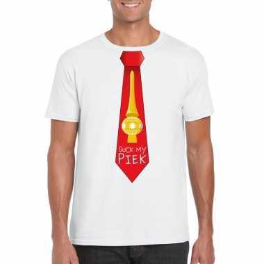 Fout kerst shirt wit suck my piek rode stropdas voor heren kopen