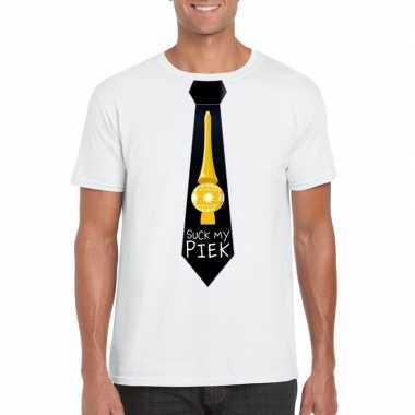 Fout kerst shirt wit suck my piek zwarte stropdas voor heren kopen