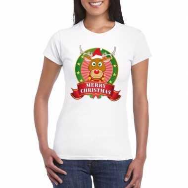 Fout kerstmis shirt met rendier rudolf voor dames kopen