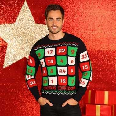 Foute heren kersttrui met adventskalender kopen