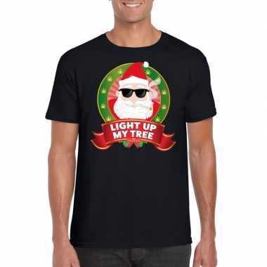 Foute kerst shirt blowende kerstman voor heren kopen