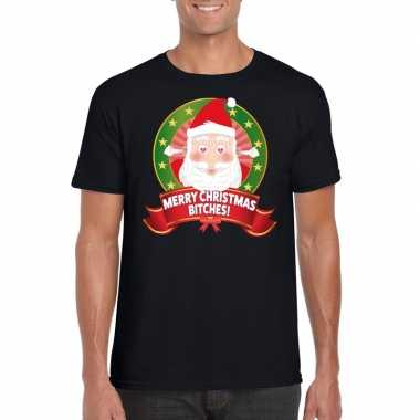 Foute kerst shirt merry christmas bitches heren kopen