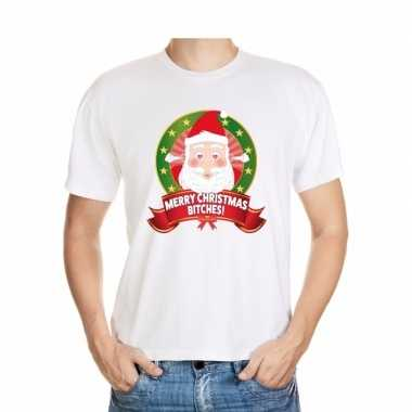 Foute kerst shirt merry christmas bitches heren kopen