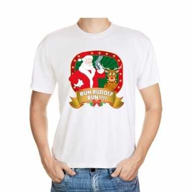 Foute kerst-shirt run rudolf heren