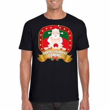 Foute kerst shirt santa is almost coming heren kopen