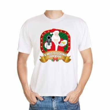 Foute kerst shirt wit x-mas is fucking expensive voor heren kopen