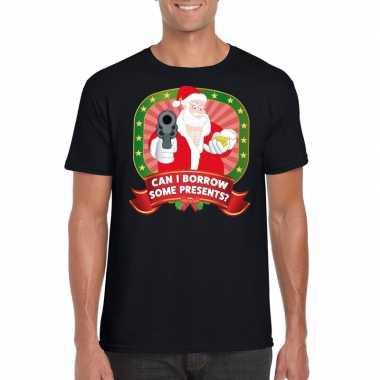 Foute kerst shirt zwart can i borrow some presents voor heren kopen