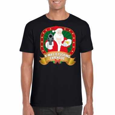Foute kerst shirt zwart x-mas is fucking expensive voor heren kopen