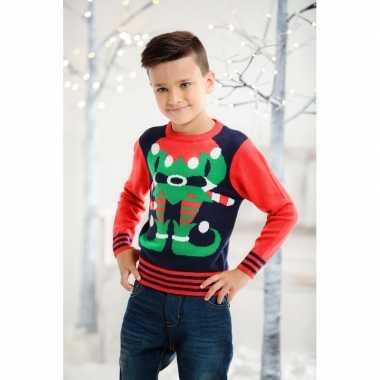 Foute kersttrui elfje voor kids kopen