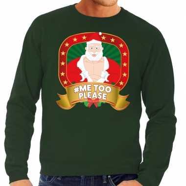 Foute kersttrui groen horny kerstman me2 please heren kopen