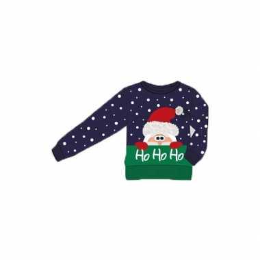 Foute kersttrui ho ho ho voor kids kopen