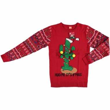 Foute kersttrui kerstcactus voor dames en heren kopen