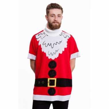 Foute kersttrui kerstman poncho kopen