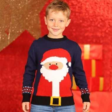 Foute kersttrui kerstman voor kids kopen