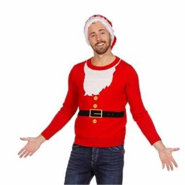 Foute kersttrui kerstmannen pak voor heren kopen