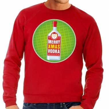 Foute kersttrui merry x-mas vodka rood voor heren kopen