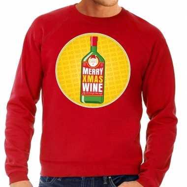 Foute kersttrui merry x-mas wine rood voor heren kopen
