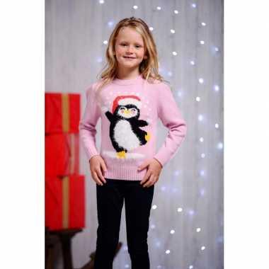 Foute kersttrui pinguin voor kids kopen