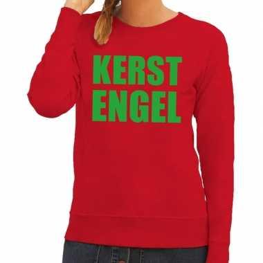 Foute kersttrui rood kerstengel dames kopen