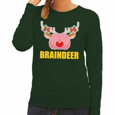 Foute kersttrui / sweater braindeer groen voor dames kopen