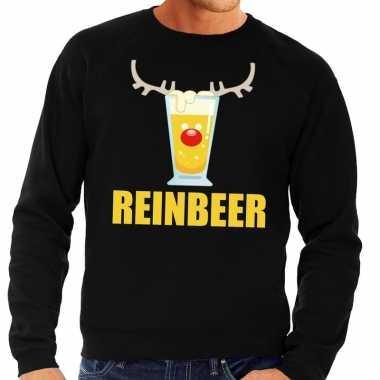 Foute kersttrui zwart met biertje heren kopen