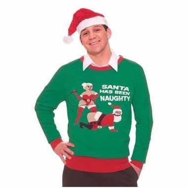 Foute kersttruien naughty santa kopen