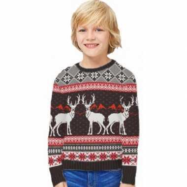 Foute kinder kersttrui happy reindeers kopen