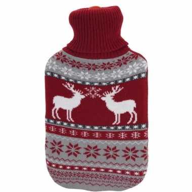 Kerstkruik met rood/grijze rendieren kersttrui hoes kopen
