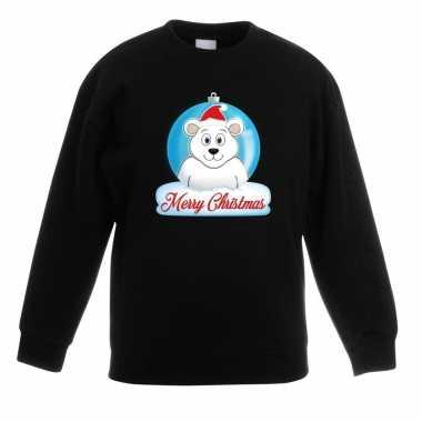 Kersttrui ijsbeer kerstbal zwart voor jongens en meisjes kopen