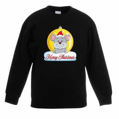 Kersttrui muis kerstbal zwart voor jongens en meisjes kopen
