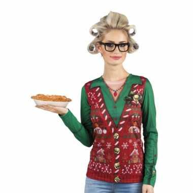 Kersttrui opdruk damesshirt kopen