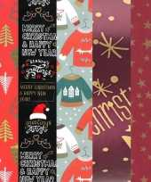 15x kerstmis kadopapier rollen 2 5 x 0 7 meter voor volwassenen