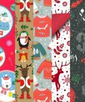 20x kerstmis kadopapier rollen 2 5 x 0 7 meter voor kinderen