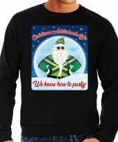 Foute achterhoek kerstborrel trui kersttrui christmas achterhoek style zwart voor heren