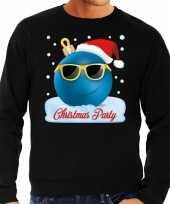 Foute kerstborrel sweater kersttrui christmas party zwart voor heren
