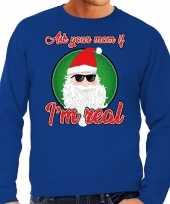 Foute kerstborrel trui kersttrui ask your mom blauw voor heren