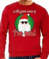Foute kerstborrel trui kersttrui ask your mom rood voor heren