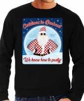 Foute kerstborrel trui kersttrui christmas in brabant zwart voor heren