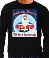 Foute kerstborrel trui kersttrui christmas in suriname zwart voor heren