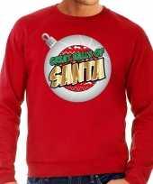 Foute kerstborrel trui kersttrui great balls of santa rood voor heren