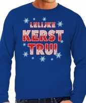 Foute kerstborrel trui kersttrui lelijke kerst trui blauw voor heren