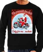Foute kerstborrel trui kersttrui no presents for kids zwart voor motorrijders voor heren