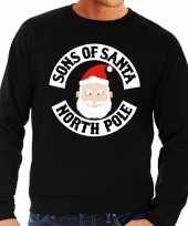 Foute kersttrui zwart motorclub kerstman heren