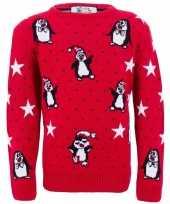 Foute kinder kersttrui met pinguins