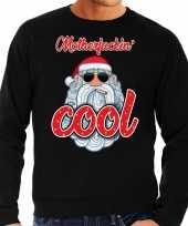 Grote maat foute kerstborrel trui kersttrui motherfucking cool stoere santa zwart voor heren