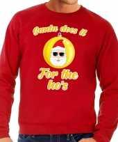 Rode foute kersttrui kerstman does it for the ho s voor heren