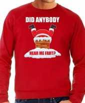 Rode kersttrui kerstkleding did anybody hear my fart voor heren grote maten