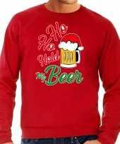 Rode kersttrui kerstkleding ho ho hold my beer voor heren grote maten