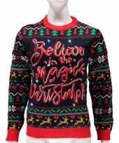 Verlichte foute kersttrui magic of christmas voor vrouwen