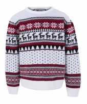 Witte kersttrui voor kinderen nordic print